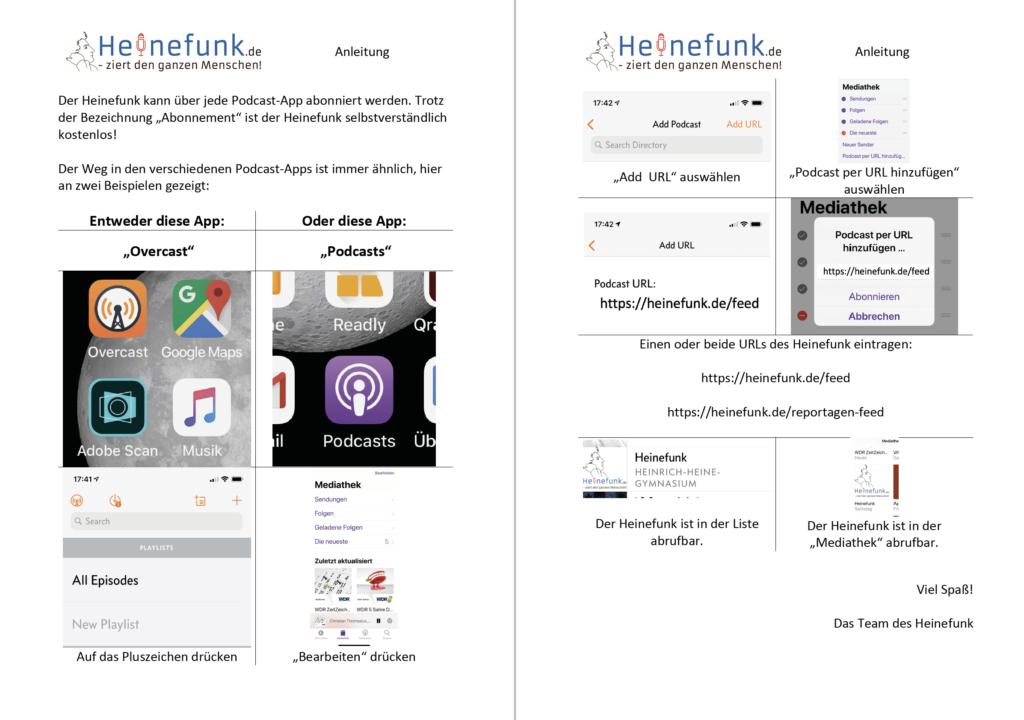 Heinefunk Abonnement - Anleitung